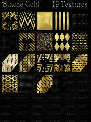 Stache Gold Pillows Textures Catty Only!!!