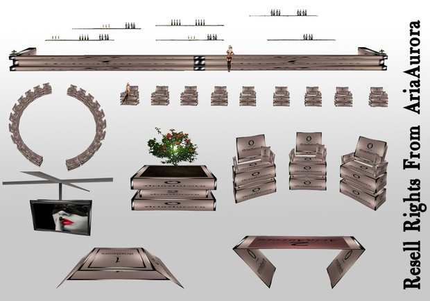 5 Rooms & 14 Furniture Meshes Resell Rights!!!