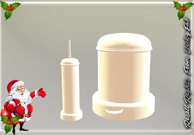 Bathroom Toilet Brush & Bin Mesh Catty Only!!!