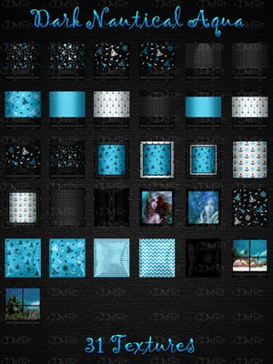 Dark Nautical Aqua Textures Catty Only!!!