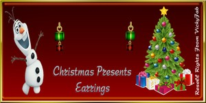 Christmas Present Earrings Mesh Catty Only!!!