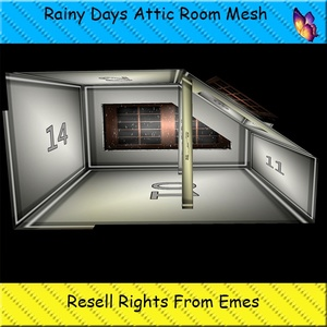 Rainy Days Attic Room Mesh Catty Only!!!