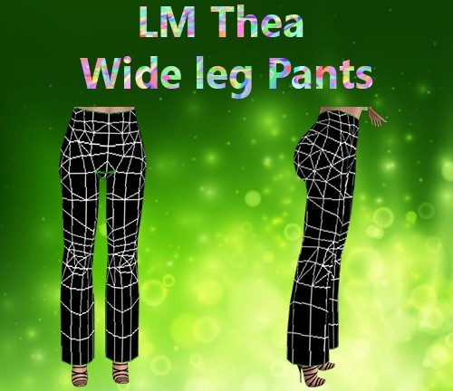 Thea Wide Leg Pants Mesh Catty Only!!!