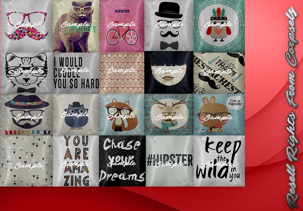 Hipster Pillows Textures Catty Only!!!