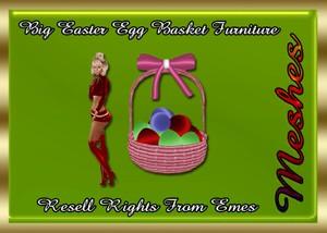 Big Easter Egg Basket Furniture Catty Only!!!