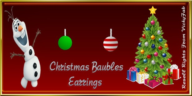 Christmas Bauble Earrings Mesh Catty Only!!!