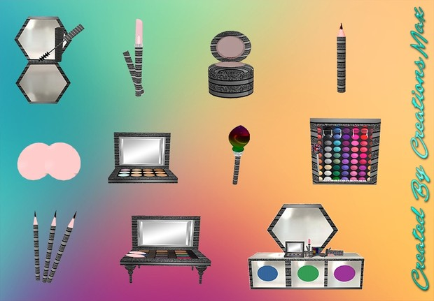 Makeup Bundle Meshes Resell Rights 0/6 PPL