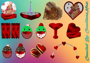 Valentine's Bear Hug Meshes Bundle Catty Only!!!!!!