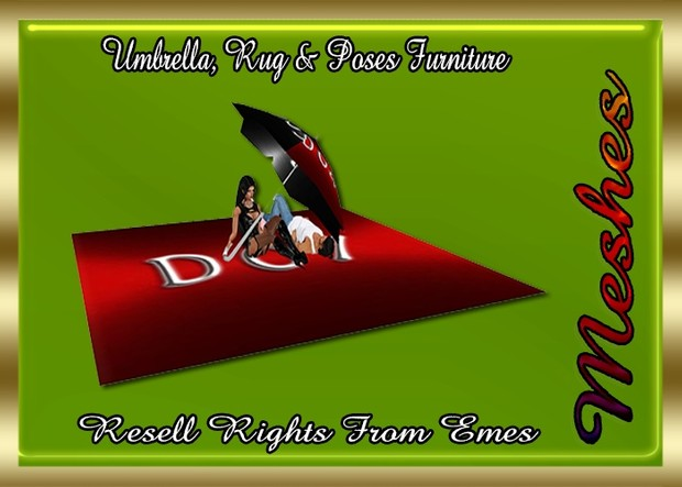 Umbrella, Rug & Poses Furniture Catty Only!!! (2 Custom Poses)