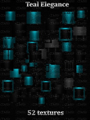 Teal Elegance Textures Catty Only!!!