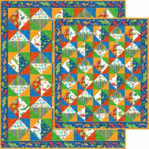 Just Triangles Quilt in Two Sizes