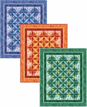 Desert Stars Quilt in Three Colors