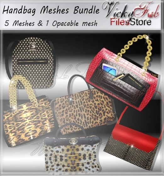 Bag Meshes Bundle (6 meshes W/Textures)