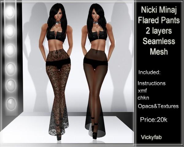 Nicki Minaj Flared Mesh