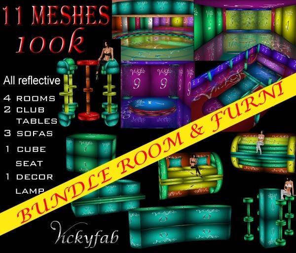 Room & Furni Meshes Bundle 11 meshes