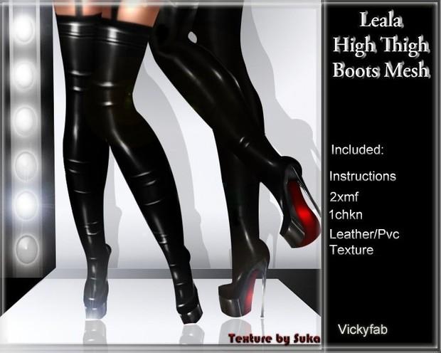 Leela Boots Mesh & 22 Texture bundle