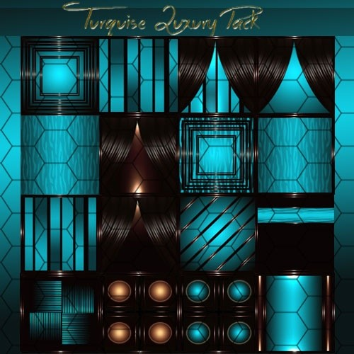 Turquise Luxury Pack Room Textures