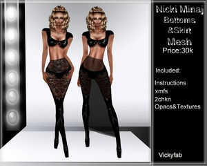 Nicki Minaj Skirt Mesh