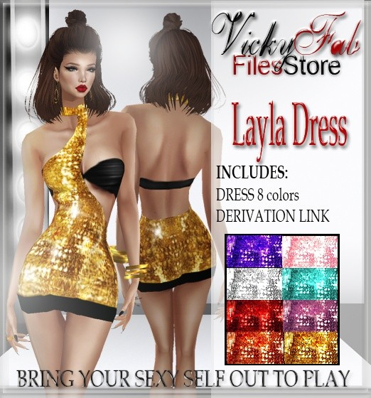 Layla Sparkly Dress (8 colors) WITH RESELLING RIGHTS
