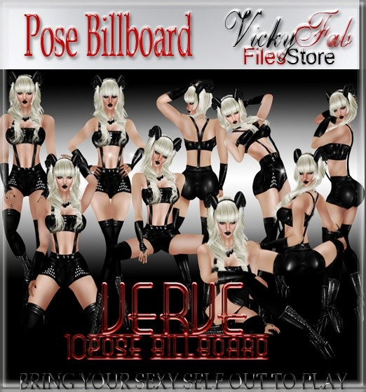 10 Pose Billboard Mesh