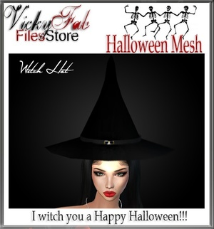 Halloween Witch Hat Mesh