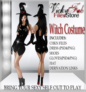 Halloween Witch Costume With Reselling Rights