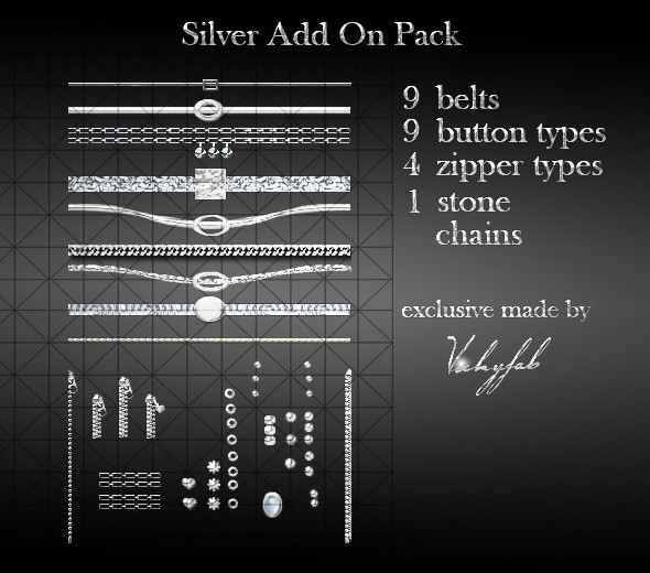 Silver Add Ons Pack PSD/XCF