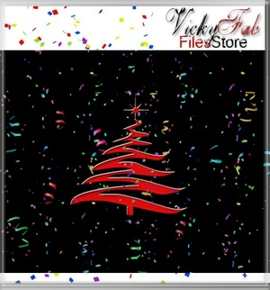Christmas Wall Decor Mesh W/ANIMATED CONFETTI