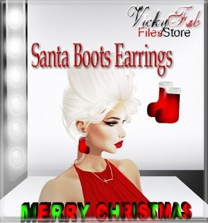 Santa Boots Earrings Mesh