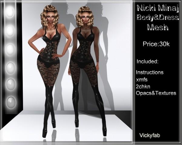 Nicki Minaj Dress Mesh