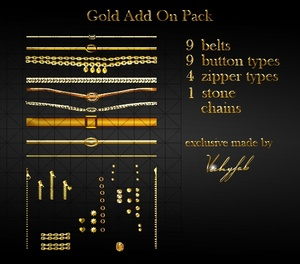Gold Add On Pack PSD/XCF