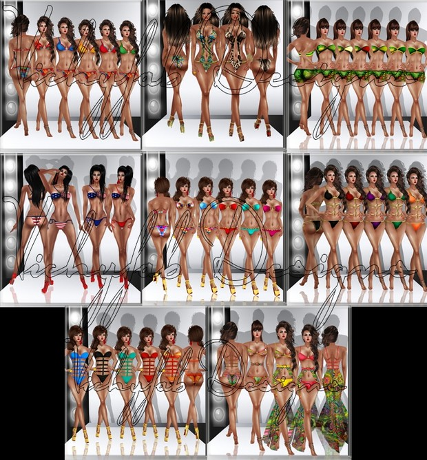 Bundle of 8 Swimwear (PSD and PNG) WITH RESELLING RIGHTS