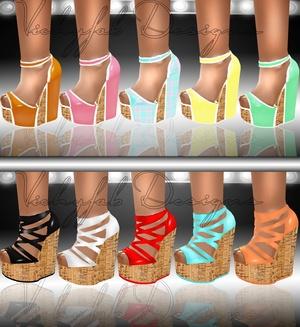 Katia Any Shape Boots Texture Bundle 20 textures ( PNG & PSD)