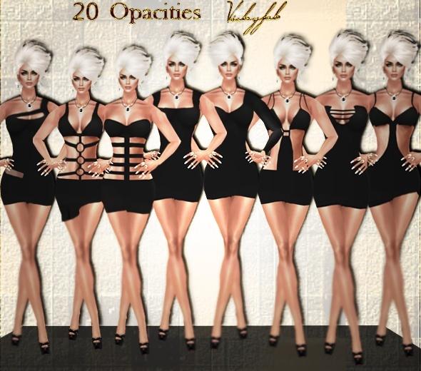 Clothes IMVU opacity maps bundle (20 opacities)