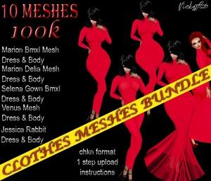 Clothes Meshes Bundle2