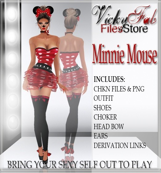 Minnie Mouse Bundle CHKN & PNG WITH RESELLING RIGHTS