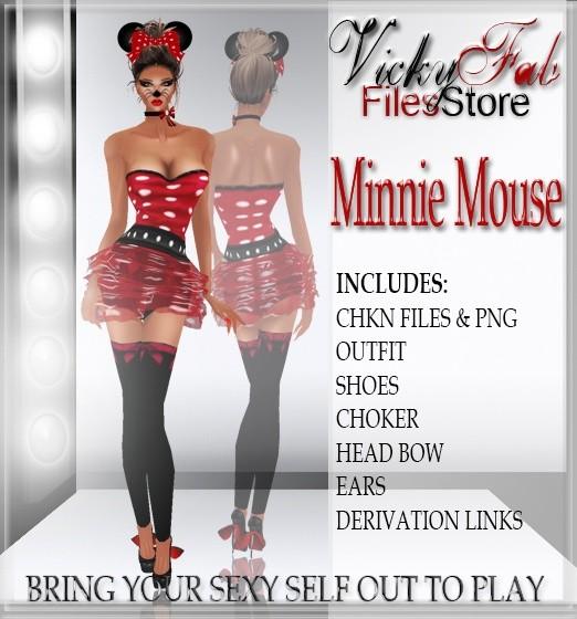 Minnie Mouse Bundle CHKN & PNG
