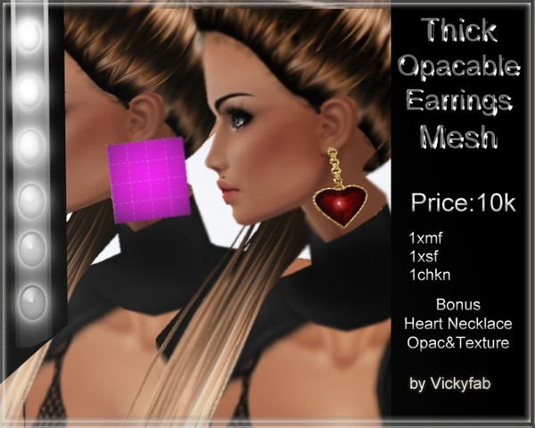 Thick Opacable Earrings Mesh
