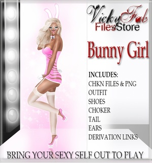 Bunny Girl Bundle CHKN & PNG WITH RESELLING RIGHTS