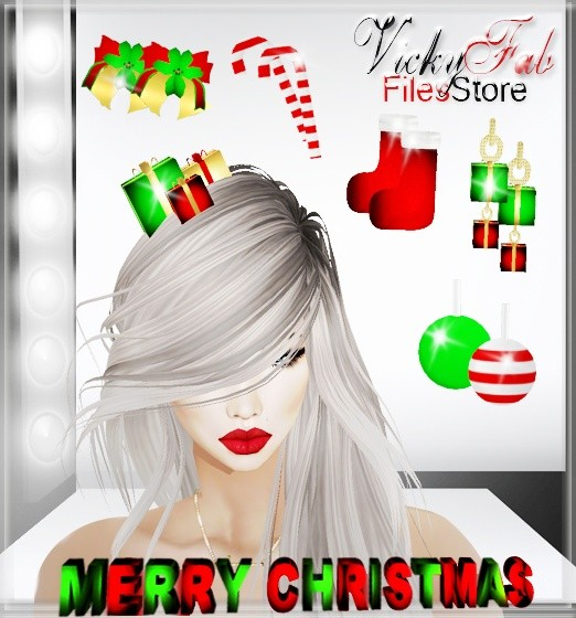 Christmas Accessory Meshes Bundle