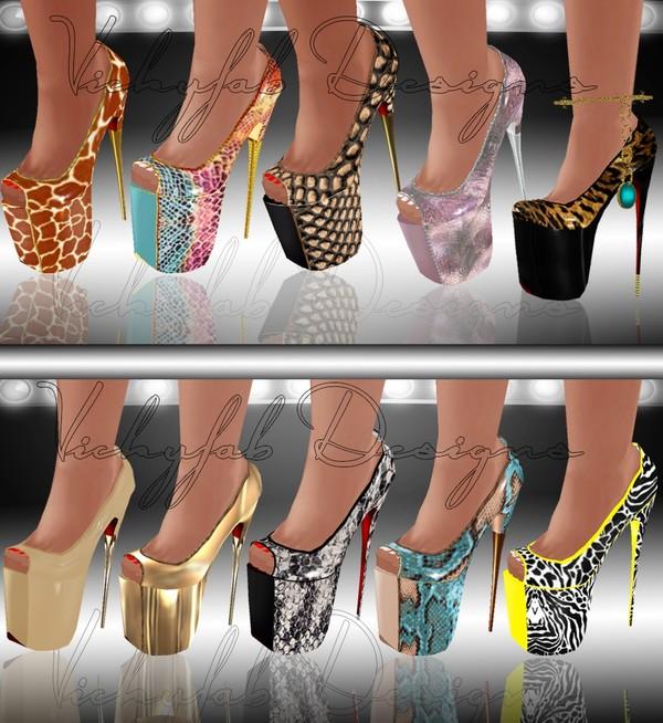 Keara Boots Mesh & 23 Texture Bundle(PNG&PSD)