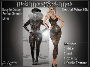 Nicki Minaj Body Mesh