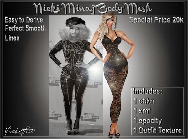 Nicki Minaj Body Mesh