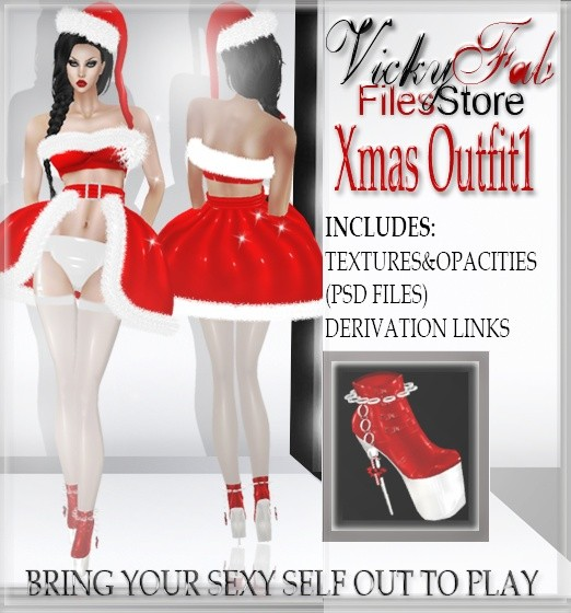 Xmas Outfit1 (PSD&PNG)