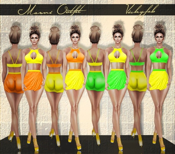 Marni Outfit (Top & Skirt)  PSD & PNG