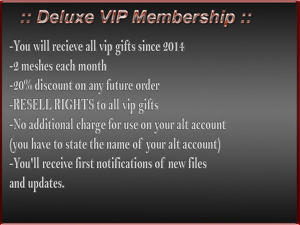 ::Deluxe VIP Membership:: / Resell Rights 60 meshes plus additional 2 more every month