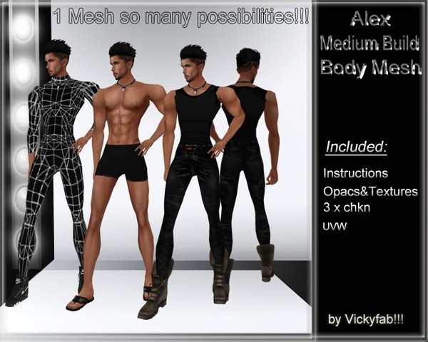 Alex Medium Build Body Mesh