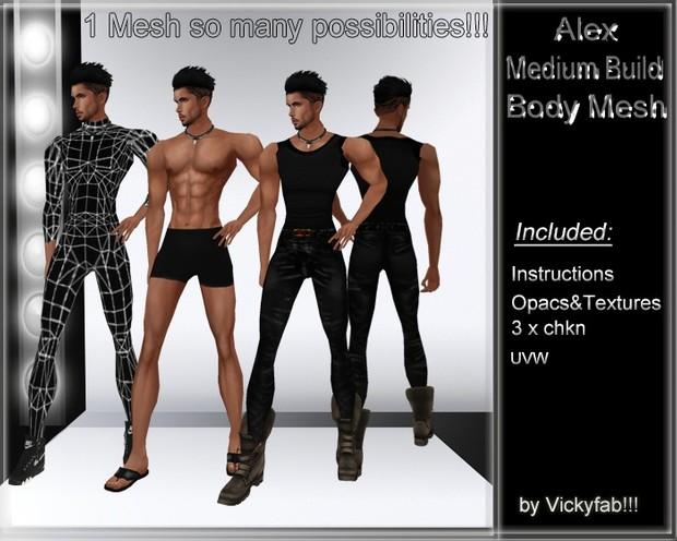Alex Medium Build Body Mesh
