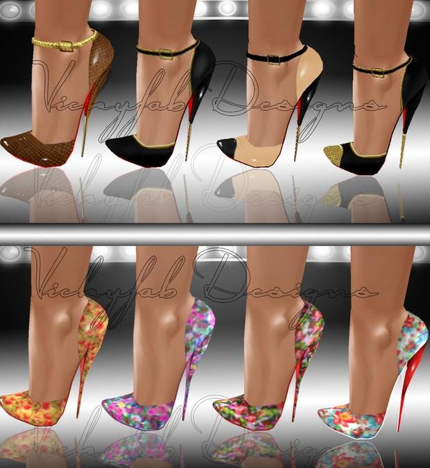 Scarlet Bow Boots Mesh & 19 Texture Bundle(PNG&PSD)