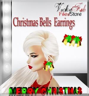Christmas Bells Earrings Mesh